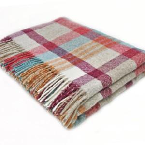 Melbourne - Pure New Wool - Brick/Aqua Throw
