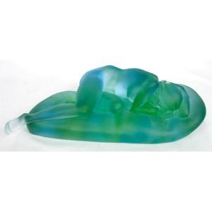 Crystal Glass Lady Sleeping