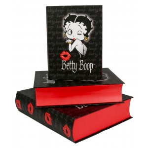 Betty Boop Book Boxes - Set/3