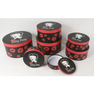 Betty Boop Round Boxes - Set/7