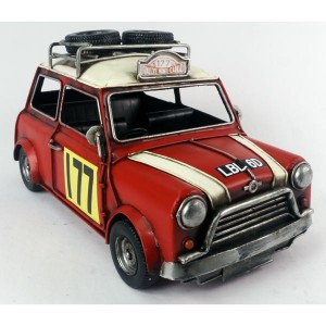 Red Mini 1967 Monte Carlo Rally 41cm