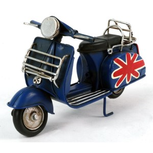 Blue Scooter with Union Jack