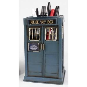 Police Telephone Box Pen Holder