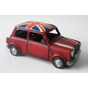 Red Mini with Union Jack Roof