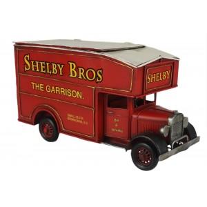Shelby Vintage Van Storage Box - Red 33cm