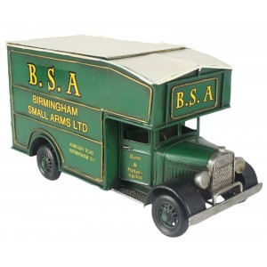BSA Vintage Van Storage Box - Green 33cm