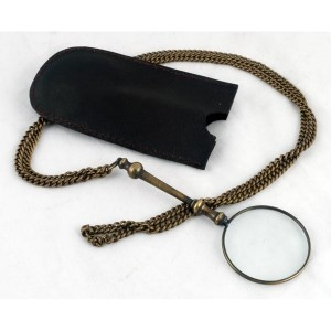 Pocket Magnifier with Chain.