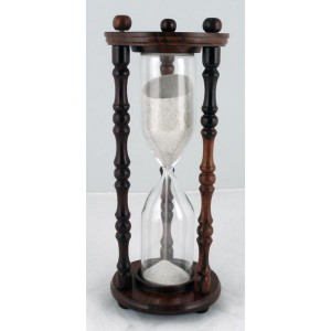 Sand Timer Wood/Glass 25cm