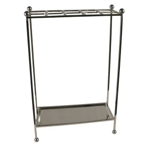 Umbrella Stand - Nickel Plated