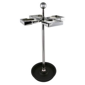 Umbrella Stand Nickel Plated - 4 Stirrups
