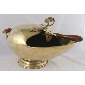Solid Brass Fish Mouth Scuttle