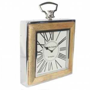 Nickel Framed Mango Wall Clock