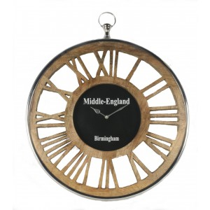 Round Wall Clock Wooden Numerals