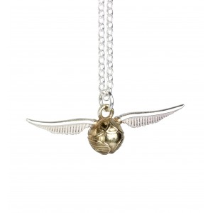 Harry Potter Golden Snitch Charm Necklace in Sterling Silver