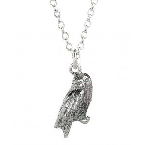Harry Potter Hedwig Owl Charm Necklace in Sterling Silver