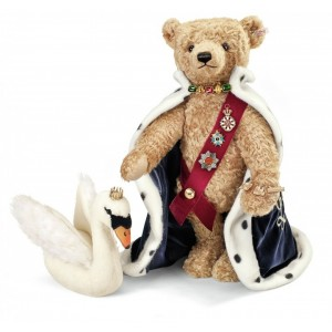 Steiff King Ludwig II Teddy Bear With Swan