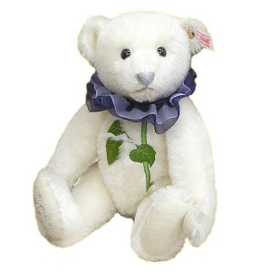 Steiff Blue Rose Teddy Bear
