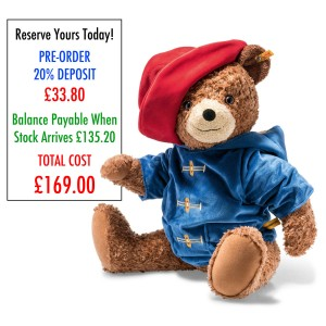 PRE-ORDER ONLY *DEPOSIT* Steiff Paddington Bear - 60cm Plush - *Stock March 2018*
