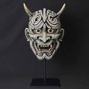 Japanese Hannya Mask (White)