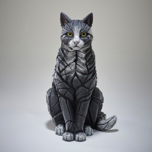 Cat - Sitting - Black & White 55cm