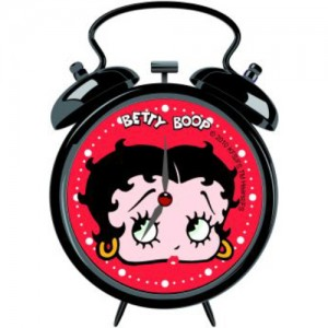 Betty Boop Mini Clock Face (Black)