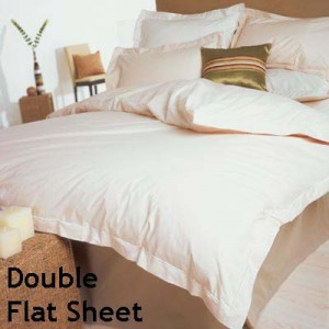 Percale 400 Count Double Flat Sheet