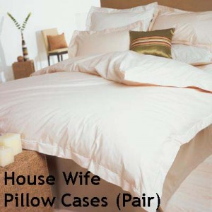 Percale 400 Count - House Wife Pillow Cases (pair)