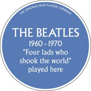 The Beatles Blue Plaque