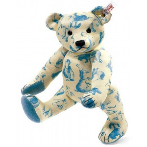 Steiff - Signature Teddy Bear Blue 30cm Limited Edition