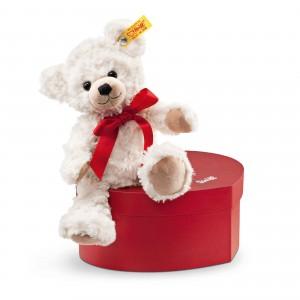 Steiff Sweetheart Teddy Bear In Heart Box - Cream - Soft Plush - 22cm - 109904