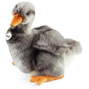 Steiff Tapsy Grey Goose - Grey/White - Soft Woven Fur - 32cm - 074073