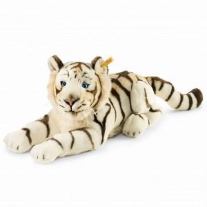 Steiff Bharat The White Tiger - Striped White - Soft Plush - 43cm - 066153