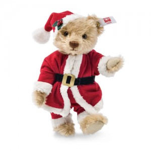 Steiff Mr Claus Teddy Bear - Cinnamon - Mohair - 14cm - 021602