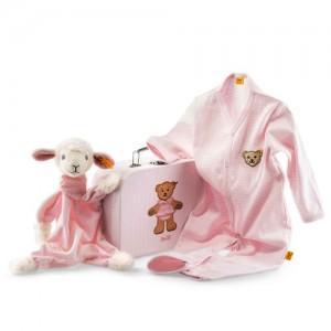 Steiff Sweet Dreams Lamb Comforter Gift Set - Pink - 24cm - 240515