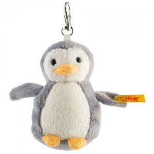 Steiff Keyring Penguin - Grey/White - Soft Plush - 8cm - 112409