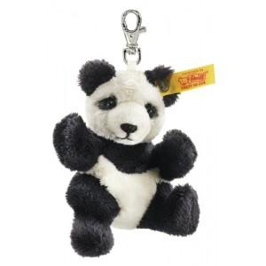 Steiff Keyring Panda - Black/White - Soft Plush - 9cm - 112102