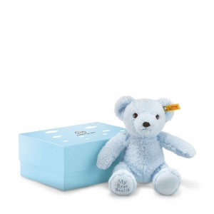 Steiff My First Teddy Bear In Gift Box - Light Blue - Plush For Baby-Soft Skin - 24cm - 241369