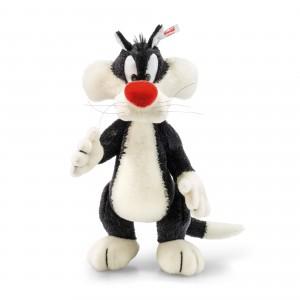 Steiff Sylvester - Black/White - Mohair - 34cm - 354663