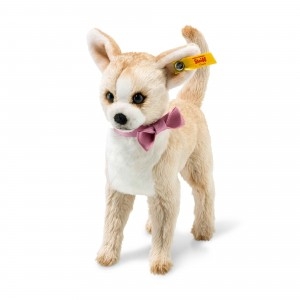Steiff Chilly Chihuahua - Beige/White - Soft Plush - 16cm - 045028