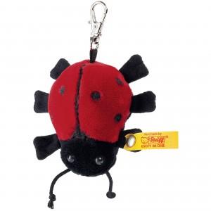 Steiff Keyring Ladybird - Red/Black - Soft Plush - 7cm - 112379