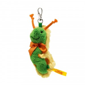 Steiff Pendant Caterpillar - Yellow/Green - Soft Plush - 8cm - 112447