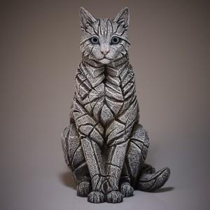 Cat - Sitting - White