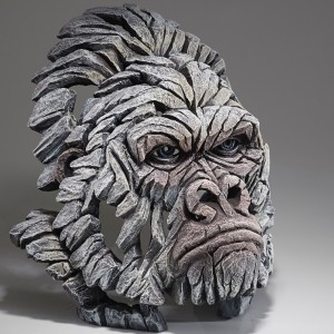 Gorilla Bust - White - 38.5cm