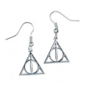 Harry Potter Sterling Silver Deathly Hallows Earrings
