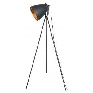 Film Set Tripod Floor Lamp Matt Black - Copper 147cm