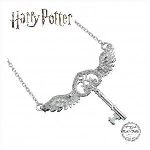 Harry Potter  Swarovski Crystal Flying Key Necklace