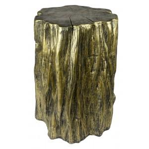 Antiqued Gold Tree Trunk Stool/Pedestal (50cm)
