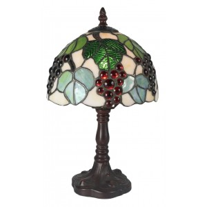 Grape Tiffany Table Lamp (Small) + Free Bulb