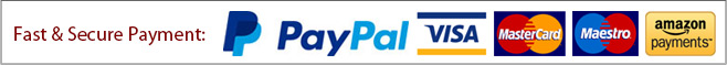 Fast & Secure Payment: Paypal